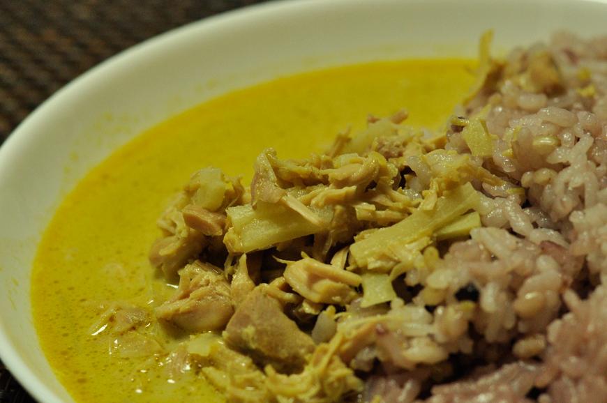 タイで食べたグリーンカレー:アップ