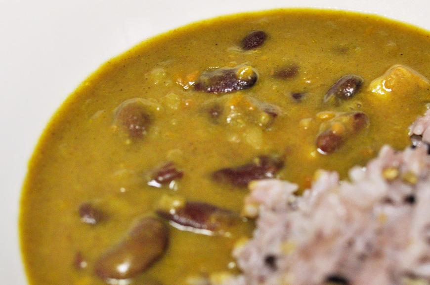 ホクホクのインゲン豆がゴロゴロ入った豆豆しいレトルトカレー