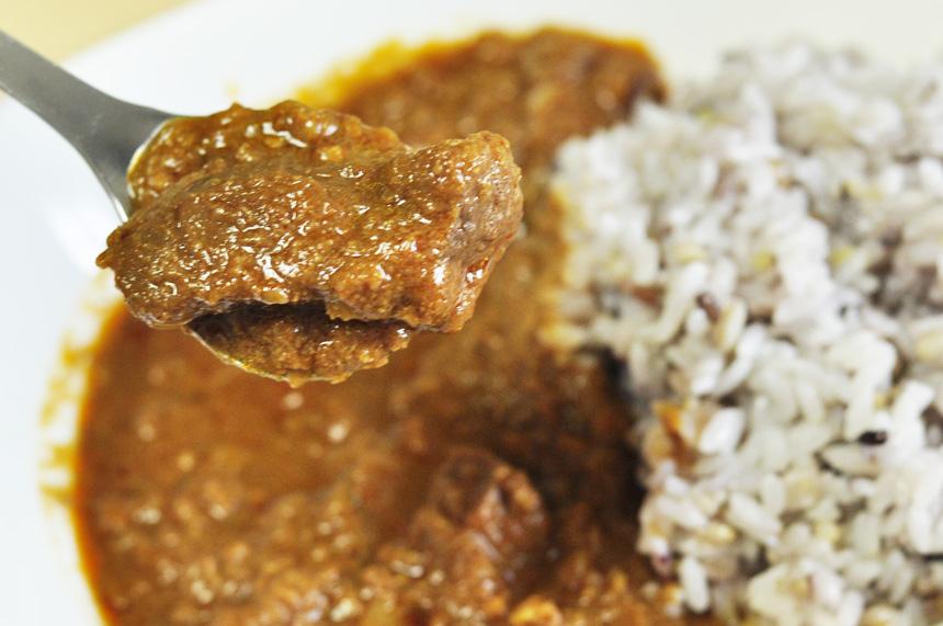 赤身のお肉の味がしっかりとしている、噛みごたえががあるマトン(羊)