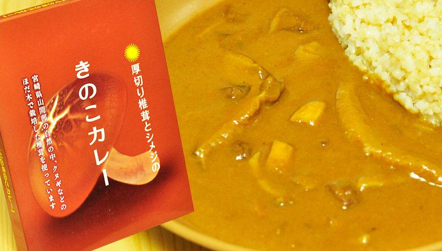 きのこの風味たっぷり。厚切り椎茸とシメジのきのこカレー