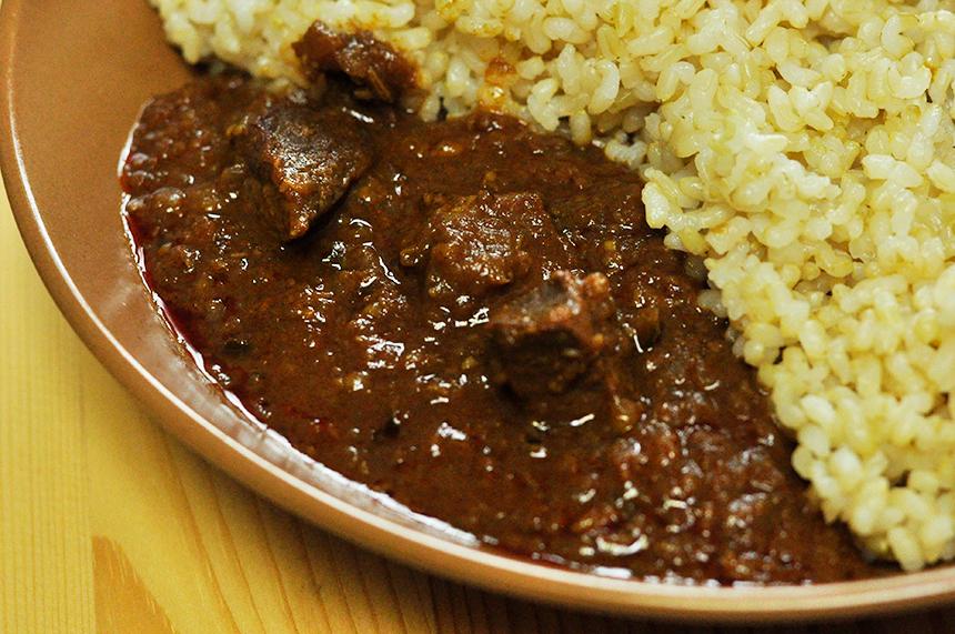 南インド タミル料理 マトンペッパーフライ