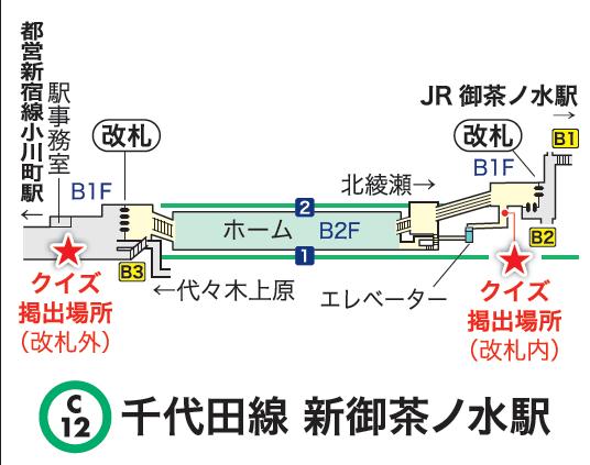 千代田線御茶ノ水駅