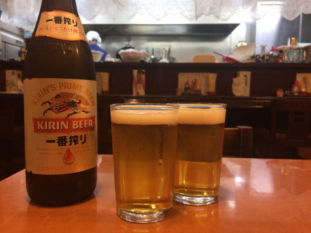 洋貴苑 麒麟一番搾りビンビール