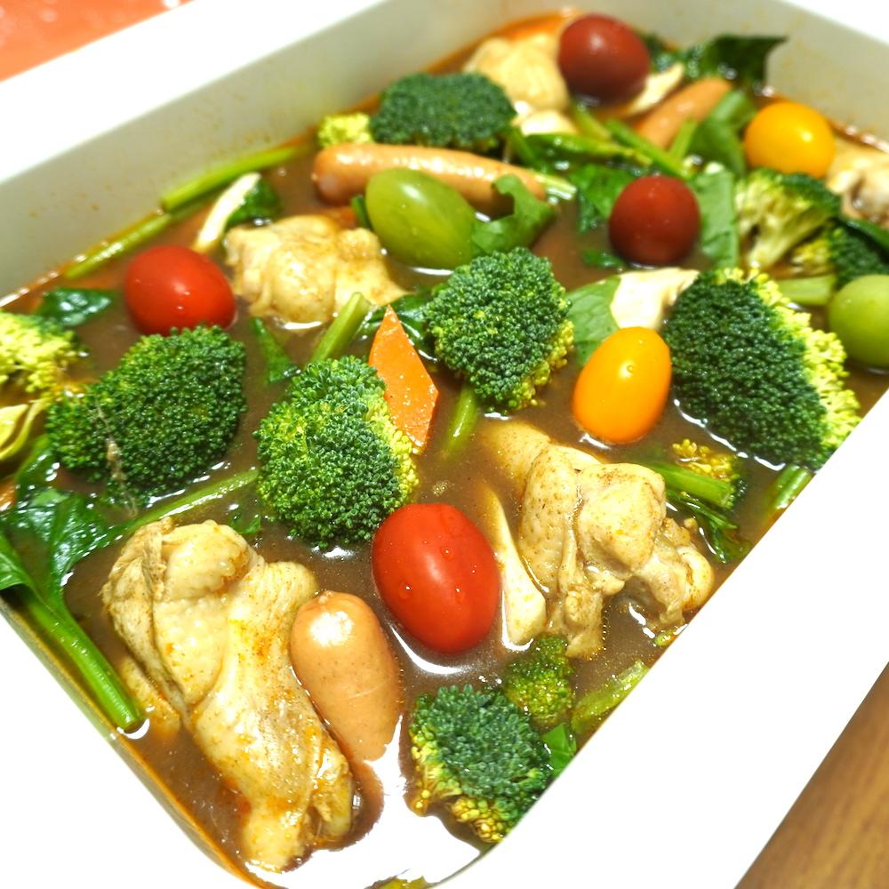 彩り豊かな無印良品のカレー鍋